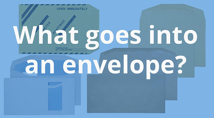 What goes into an envelope blog